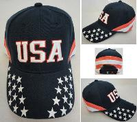 USA Ball Cap [Stars on Bill/Stripes Around]